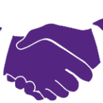 Small handshake graphic